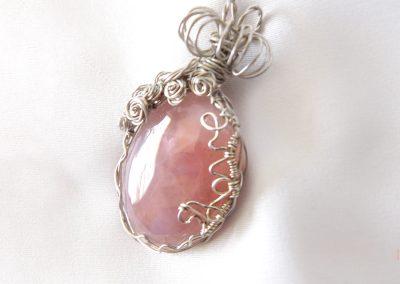 Sterling Silver Rose Quartz Love Pendant Cancer Scorpio Birthstone Universal Chakra Stone Ambrosias Creative Realm