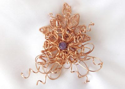 Forever Corsage Copper Wire Wrap Chrysanthemum Corsage Boutonniere Brooch Ambrosias Creative Realm