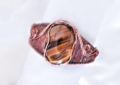 Southwestern Style Wire Weave Copper Bracelet Unique Design Ambrosias Creative Realm Jewelry