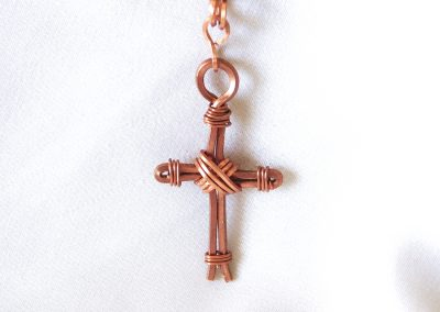 Copper Wire Cross Pendant Handmade Jewelry Ambrosias Creative Realm