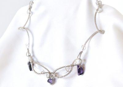 Elf Fairy Fantasy Necklace Sterling Silver Amethyst Pendants Ambrosias Creative Realm