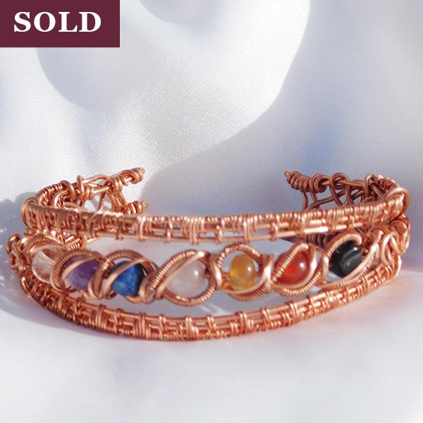Chakra Wire Bracelet Handmade Jewelry Copper SOLD