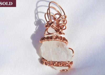 Copper Spiral Wrapped Crystal