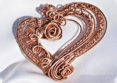 Copper Wire Heart Pendant